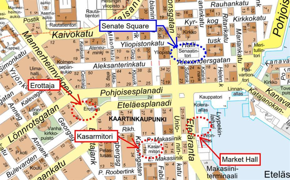 Get to Senate Square from Helsinki Port Green Cap Tours